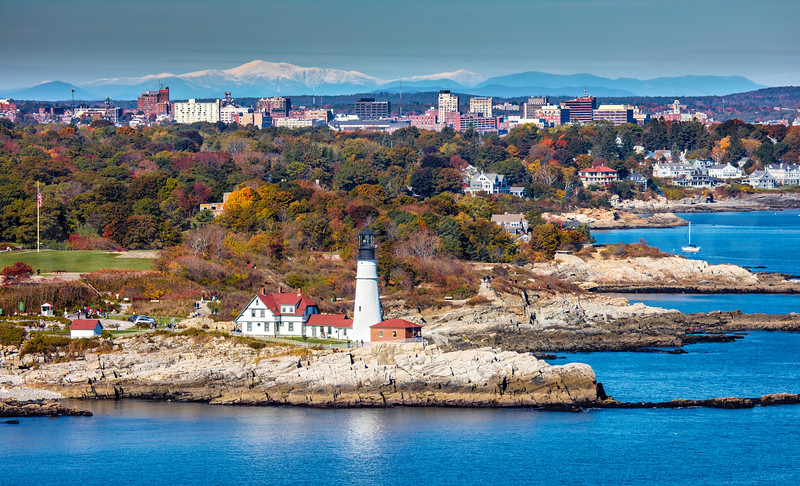 Lighthouses- Aerial, Kittery to Portland